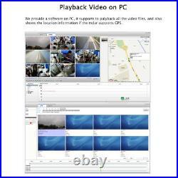 1080P GPS 4G MDVR Car DVR Video Record Rear View CCTV Camera System 7 Monitor