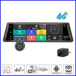 10Touch Screen bundled backup Rearview Mirror smart Android Car DVR dash Camera