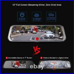 10 Dash Cam Recorder Rearview mirror FHD1080P with Rear Camera Car DVR 4G/WIFI