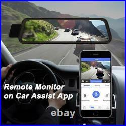10 HD 1080P Dual Lens Car DVR Dash Cam 4G Android 8.1 Rearview Mirror ADAS lot