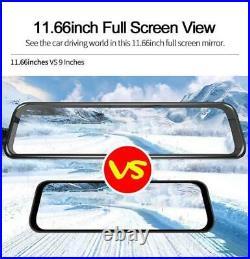 11.66 Full Touch Car Rearview Mirror DVR Dash Cam Recorder GPS ADAS &AHD Camera