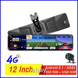 12Full Touch IPS 4G wifi Car DVR Camera Android dash cam smart rearview mirror