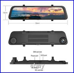 12'' Android 8.1 Car Dash DVR Rearview Mirror Recorder Night Vision Camera Kit