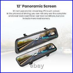 12 HD 1080P Dual Lens Car DVR Dash Cam Video Camera Recorder Rearview Mirror
