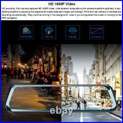 12 touch screen rearview mirror Andriod 8.1 ADAS car dash cam reversing camera