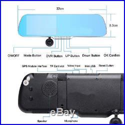 16GB 5 1080P Android Rear View Mirror GPS Dash Cam CAR DVR Backup Camera T8400