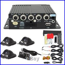 27Pcs 4CH Full View Car DVR Video Recorder Kit Security Camera Accessories New