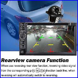 2 Din Bluetooth Car Stereo Audio DVD Player Radio with Rear View Backup Camera