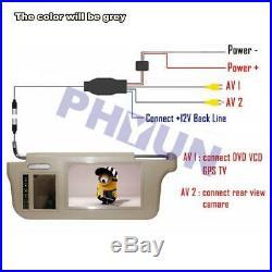 2x Car Sun Visor 9 Monitor AV1 AV2 L+R For Reverse Camera DVD VCD GPS TV Input
