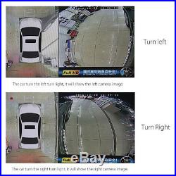 360° Bird View Panoramic System 4 Camera Car DVR Recording Rear View Parking Cam