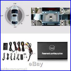 360° Birdview Panoramic System 4 Camera Parking Recording Rear View for All Car
