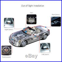 360° Car 4 Way HD Camera Rear Side Backup Front Bird View Parking System DVR US