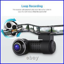 360° Panoramic Car DVR Dual Cameras Full View front & rear dash cam APP control