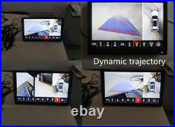 3D & 2D Bird View 1080P Car Camera System Parking Back Up DVR Recorder Universal