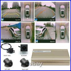 3D 360° Bird Eye View Panoramic 4 Camera Car Universal Parking Rear View Videos