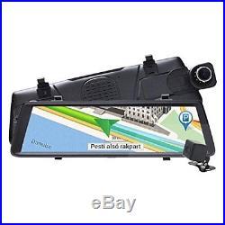 3G 10 FHD Dash Camera Car DVR Mirror GPS ADAS Monitor Rear View Cam GPS Navi