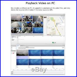 4CH 1080P Car Mobile DVR Video Recorder Rear View CCTV Camera System 7 Monitor