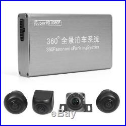 4Camera 1080P 360° Car DVR Dash Cam Rear View Video Camera Recorder Night Vision