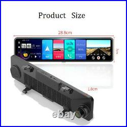 4G Android OS 12 Inch Smart Rear View Mirror Video Recorder with Reverse Camera