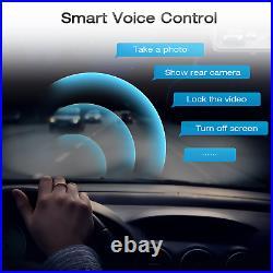 4K GPS Mirror Dash Cam Voice Control Rear View Touch Screen 12'' FHD Car Camera