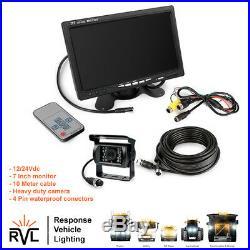 4Pin Car Parking Reversing Camera + 7 LCD Rear View Monitor Kit Truck Bus Van