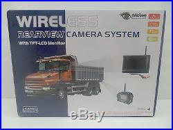 4UCAM 7 LCD Wireless Truck RV Backup Rear View Camera With Color LCD Monitor +