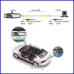 4.3 Auto Dimming Rear View Mirror Monitors with LED Camera 170° Night Vision