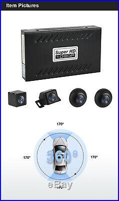 4 Camera 360° Bird View Panoramic System Rear View With Shock Sensor Night Vision