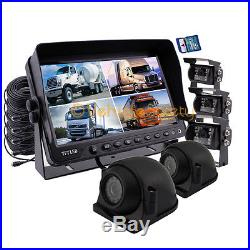 5 x CCD CAMERAS 9 MONITOR WITH DVR BACKUP SYSTEM REAR VIEW CASMERA SIDE CAMERA
