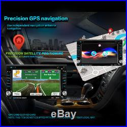 6.2 Car Stereo CD DVD Player Radio Touchscreen GPS NAVI 2 DIN with Reverse Camera
