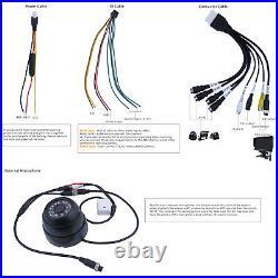 720P AHD 4CH SD 512G GPS Car Vehicle DVR Record Rear View CCTV Camera 7 monitor