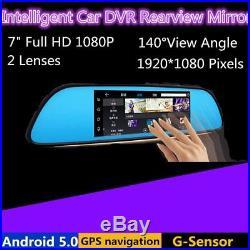 7'' 3G 1080P Car DVR GPS Android 5.0 Car Rear View Mirror Monitor Reverse Camera