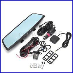 7'' 3G 1080P Car DVR GPS Android 5.0 Dual Lens Rear View Mirror Monitor Camera