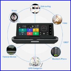 7.84'' 4G ADAS Car DVR Dash Cam HD 1080P Dual Lens Rearview Camera Backup Mirror