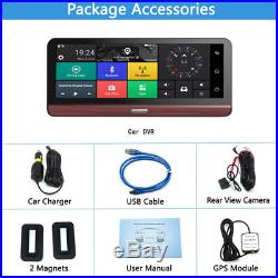 7.84'' 4G Wifi HD Android Car GPS DVR Camera Video Rear View Recorder with US Map