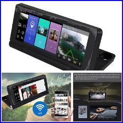 7 Full HD WiFi Bluetooth Car DVR GPS Navigation Rear View Camera Video Recorder