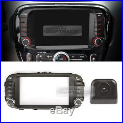 7 GPS Center Fascia Audio Integrated Key Rear View Camera for KIA 2014-18 Soul