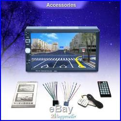 7 HD Car 2 DIN GPS Nav Bluetooth MP3 MP5 Player Stereo Radio + Rear View Camera