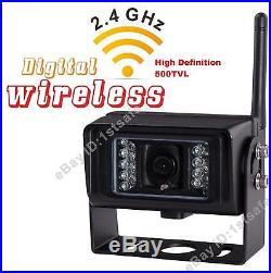 7 Inch Digital Wireless Split LCD Rear View Backup Camera System No Interference