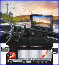 7 Quad Monitor HD DVR Recorder Front Rear View Camera System For Truck Trailer