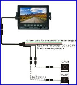 7 Rear View Backup Cab Camera System For Skid Steer, Rv, Truck, Heavy Equipment