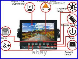 7 Rear View Backup Reverse 2-camera System For Skid Steer, Truck, Tractor