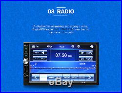 7 Touch Screen Car Radio Audio Stereo MP5 Player FM BluetoothRear View Camera