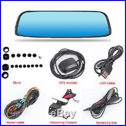 8 1080P GPS Bluetooth WIFI Rear View Mirror Dash Car DVR Camera Video Recorder