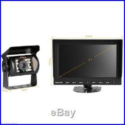 9Quad/Split LCD Backup Rear View Reversing Reverse Monitor Camera Kit For Truck