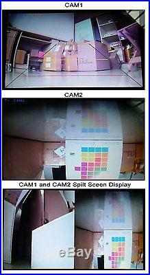 9 Digital Wireless Split Monitor Rear View Backup Camera System
