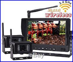 9 Digital Wireless Split Monitor Rear View Backup Camera System For Rv Trailer