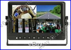 9 Inch Quad/split LCD Backup Rear View Side View Camera System Trailer 5th Wheel
