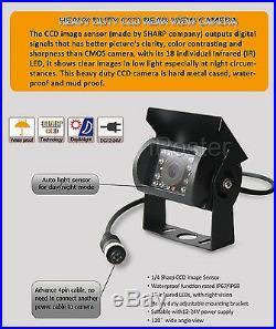 9 QUAD MONITOR DVR 4 x IR CCD CAMERA REAR+SIDE VIEW FOR TRUCK BUS MAX 32GB KIT