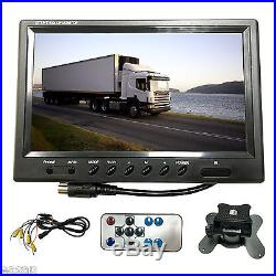 9 Quad Split Screen Monitor 4x Backup Rear View Ccd Camera